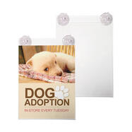 Acrylic Poster Display with Suction Cups