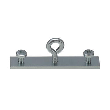 Metal Connector with Hanging Eyelet for Poster Rail