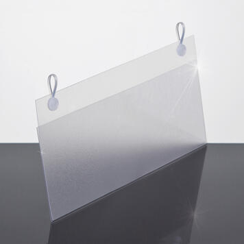 Folded PVC Sign Holder with Clip