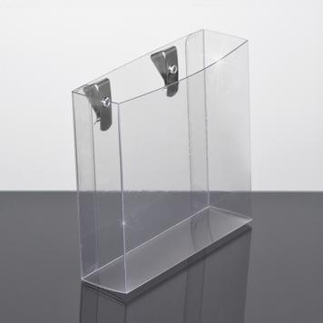 PVC Brochure Holder for vertical Panels