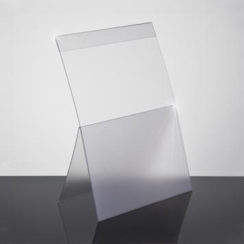 Angled PVC Sign Holder