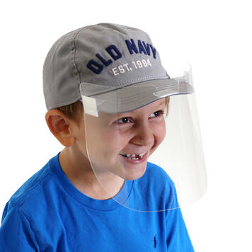 Clip-On Personal Face Shield, Kids Size