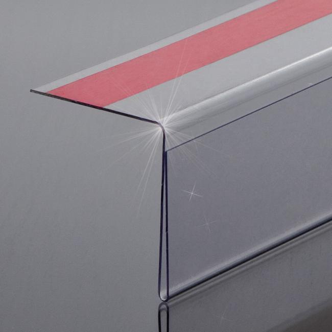 Folded PVC Sign Holder 90° Angle