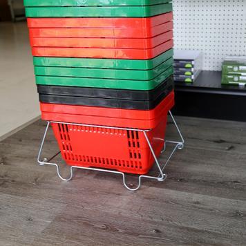 Metal Shopping Basket Stand
