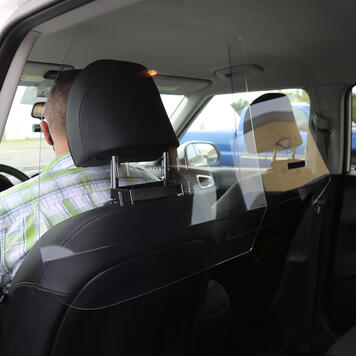 Ride Share Sneeze Guard