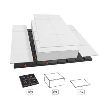 EasyCubes | 2-sided platform with 3 Levels