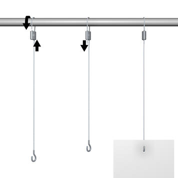 Hanging Kit with Adjustable Clamp and Steel Cable